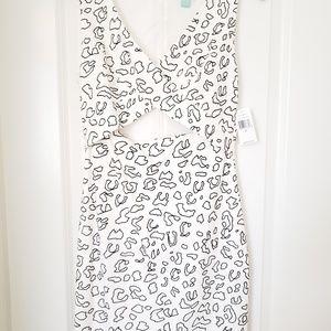 White Leopard Print Dress